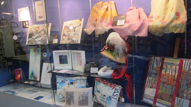 Inspiring artwork being displayed at Chandler's Ford Library - by the artists from The Sorting Office Studios in Eastleigh.
