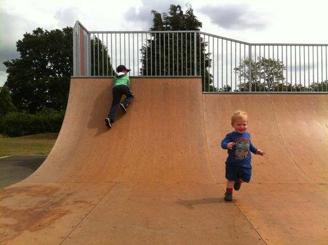 My son enoy playing on the skate ramp, located beside the main Fryern park.