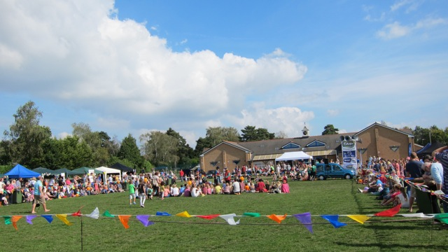 Hiltingbury Extravaganza is a popular event in Chandler's Ford. This picture shows the 2014 event on Hiltingbury Recreation Ground.