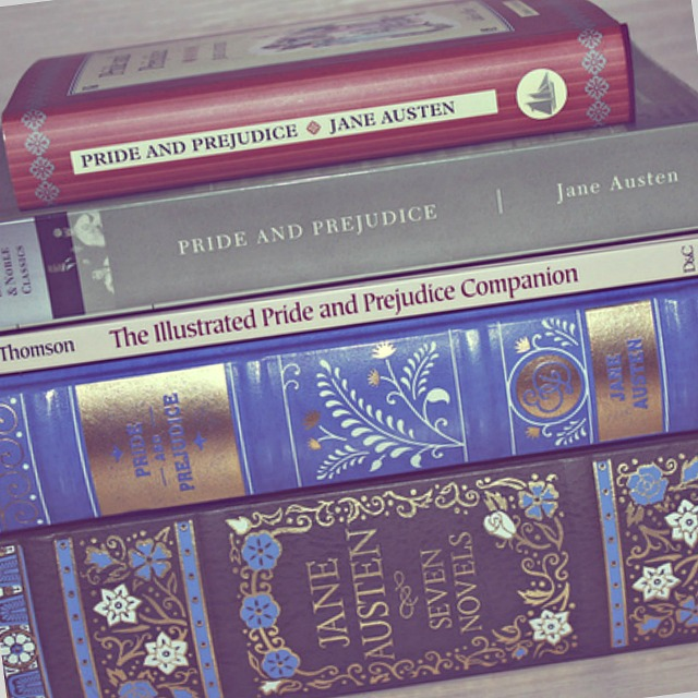 "Pride and Prejudice books. Image by <a href=""https://www.flickr.com/photos/thalita-carvalho/8418165732"">Thalita Carvalho</a> via Flickr."