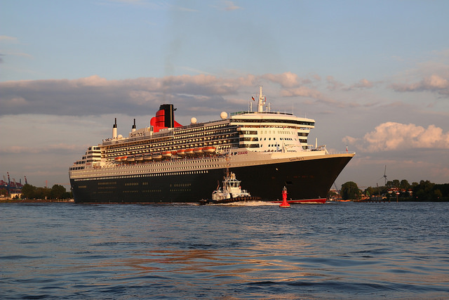 "Queen Mary 2 - image by <a href=""https://www.flickr.com/photos/23267638@N06/14171690347"">Lutz</a> via Flickr."