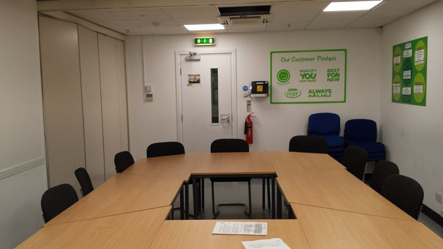 Asda Eastleigh Community Room -  free to use for local groups.