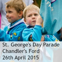 St. George's Day Parade Chandler's Ford 2015