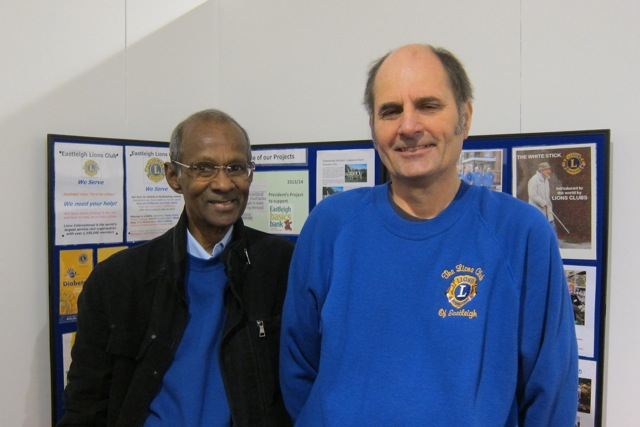 Devan Kandiah (left) and Cliff Paffett at Volunteer Fair in Eastleigh this year.