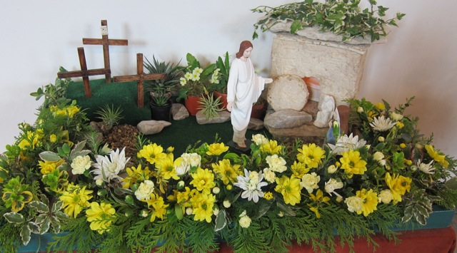 """He is not here; he has risen"" - scene at St Boniface Church, Easter Sunday 2015"