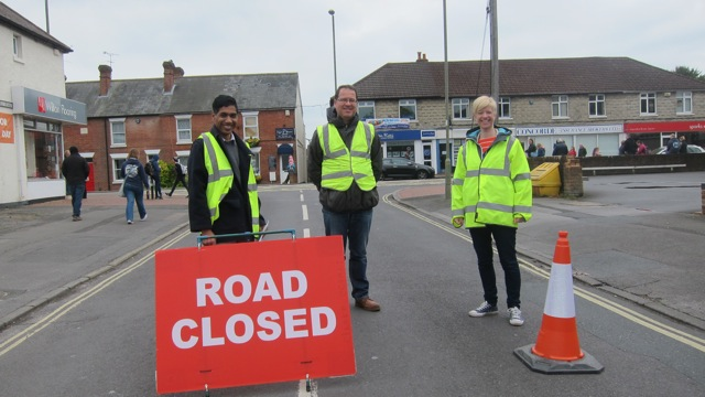 Unsung heroes - parent volunteers who made St. George's Day parade possible.