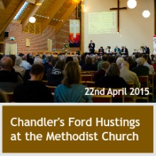 Chandler's Ford hustings 22 April 2015