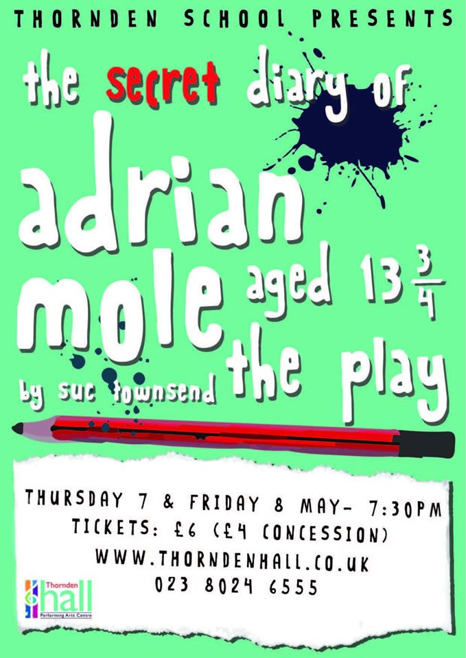 Thornden School pupils performed <i>The Secret Diary of Adrian Mole aged 13 3/4</i>.