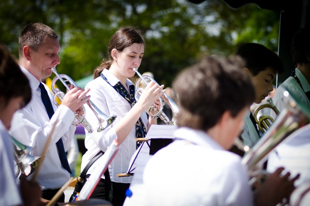 Musicians from Chandler's Ford Brass Band. Image: Alan Fry.