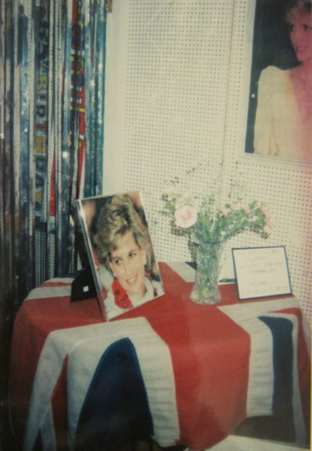 One display window in 1997 was dedicated to remembering Princess Diana.