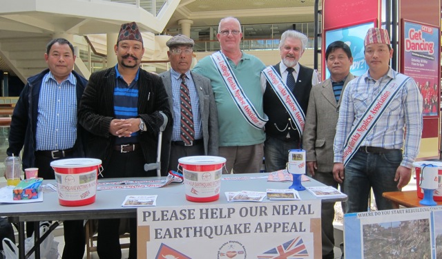 Eastleigh Gurkha Nepalese Association: Earthquake appeal.
