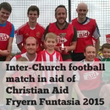 Kick Start Christian Aid Fundraising with Chandler's Ford Inter-Church Football Match