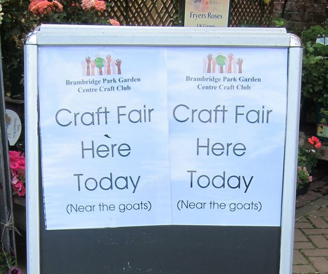Craft fair Brambridge sign