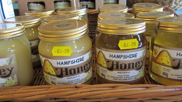 Local honey from Chandler's Ford.