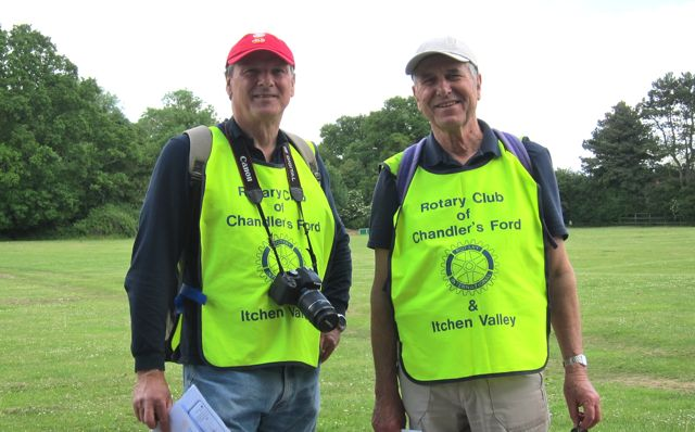 Ian and Mike from Rotary Club of  Chandler's Ford and Itchen Valley.