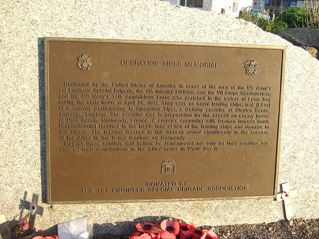 Operation Tiger Memorial Plaque