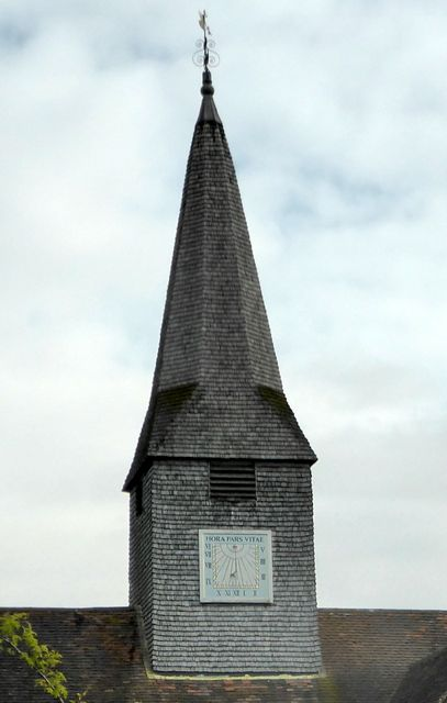 The Church in Thursley provides a sundial so that villagers know the time.