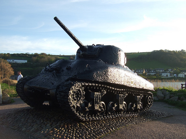The rather unusual second memorial at Slapton.  Picture taken by Steve p2008 via Flickr