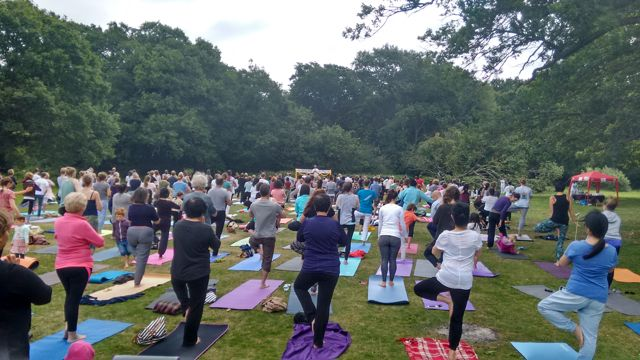 International Yoga Day: 21st June 2015 at Southampton Common.
