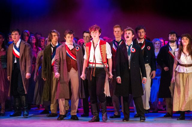 Do you hear the people sing? Barton Peveril College's production of Les Misérables, 2015.