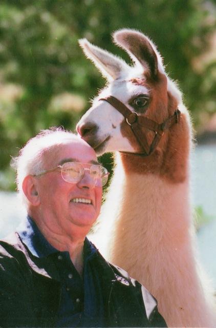Doug Clews with Llama