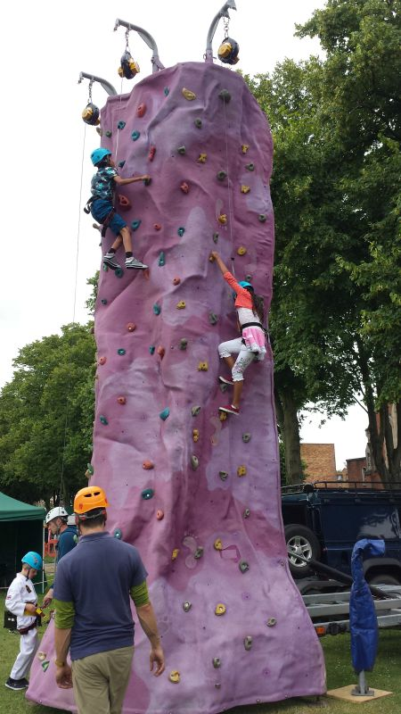 Eastleigh 10th Mela Climbing wall Cecily Casey