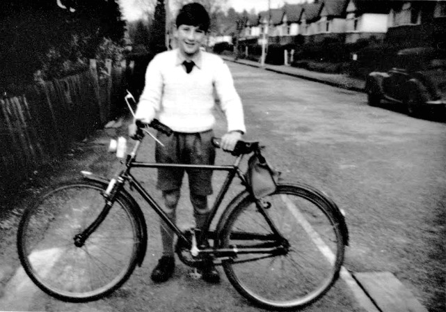 Martin Napier: My first bike at a friend's house in Purkess Close, Chandler's ford, approximate age 9 or 10.