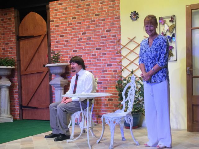 Matthew Meehan and Marily Dunbar in Relatively Speaking, by the Chameleons.