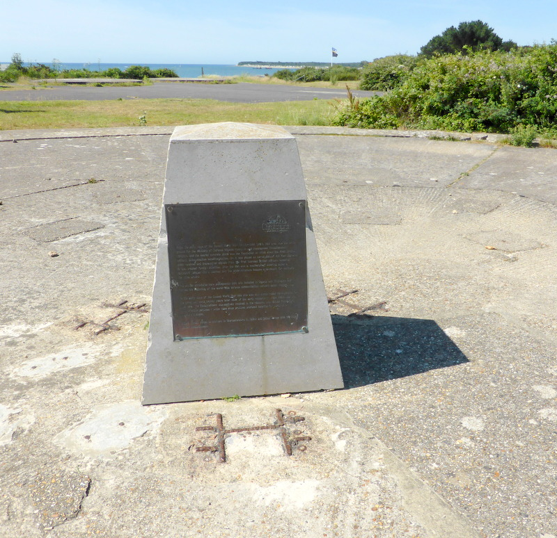 Commemorative plaque on the site of the Radome at Steamer Point, Friar's Cliff.