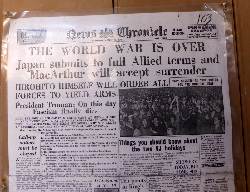 News Chronicle, Wednesday August 15th 1945, price 1d