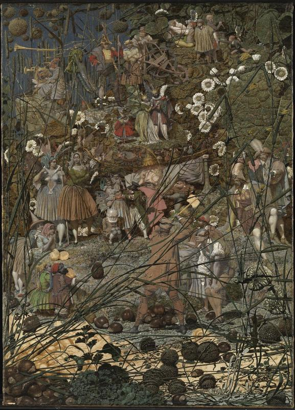 The Fairy Feller's Master-Stroke 1855-64 Richard Dadd 1817-1886 Presented by Siegfried Sassoon in memory of his friend and fellow officer Julian Dadd, a great-nephew of the artist, and of his two brothers who gave their lives in the First World War 1963 http://www.tate.org.uk/art/work/T00598 CommonsWiki
