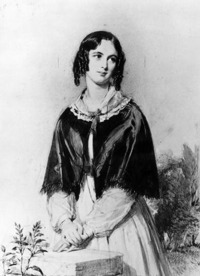 Charlotte Mary Yonge. Engraving of a painting by George Richmond (1809 - 1896). Hulton Archive/Getty Images.