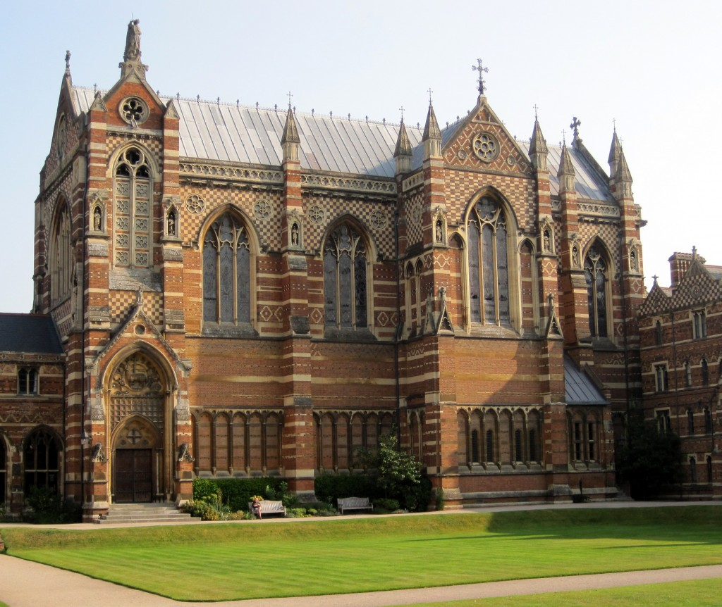 Keble College Chapel, Oxford. Victorian brickwork at its best.