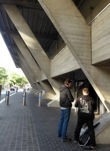 National Theatre, Sout Bank, London. Brutal and oppressive concrete.
