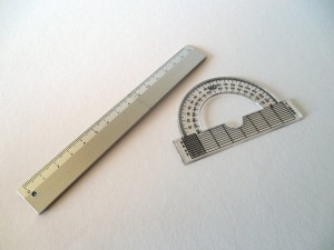 Ruler and protractor