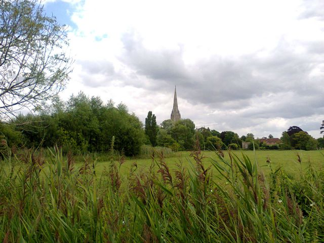 View of Cathedral over Watermeadows