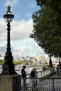 Turn your back to the South Bank and enjoy the view of St Paul's.