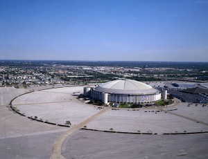 Houston Astrodome. A vast featureless car park. Carol M Highsmith, Library of Congress.