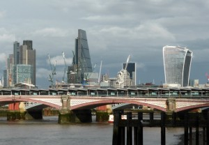 London Skyline with the Walkie-Talkie building on the right.