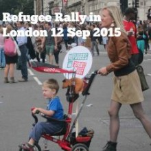 """""""Refugees Welcome Here"""" Rally at Parliament Square"""