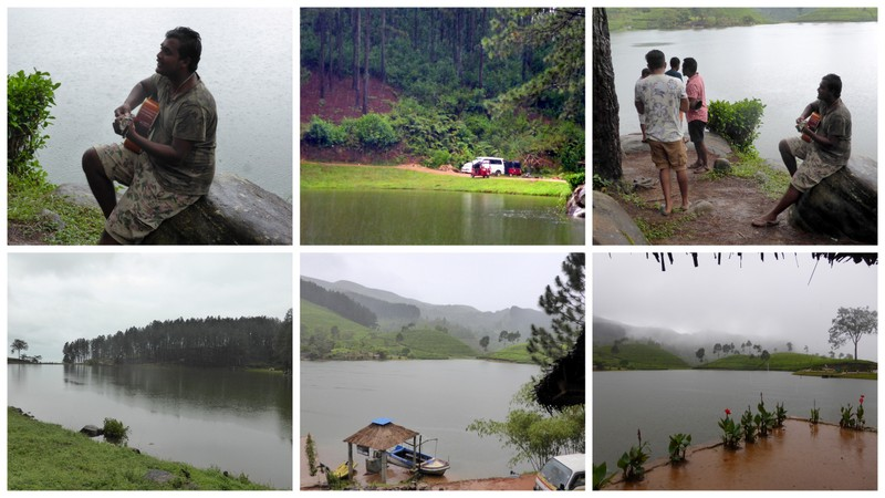 Sembuwatha Lake. A lovely place for a picninc. Pity about the rain and mist.