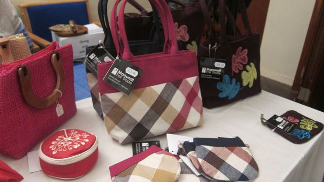 Fairtrade bags - you can buy them from Shop Equality in Eastleigh.