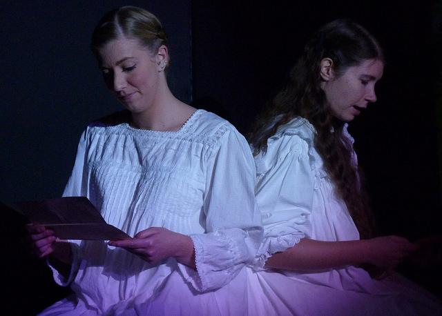 Lisa Dunbar (left) plays Mina Harker, and Jennifer Prior plays Lucy Westonra.