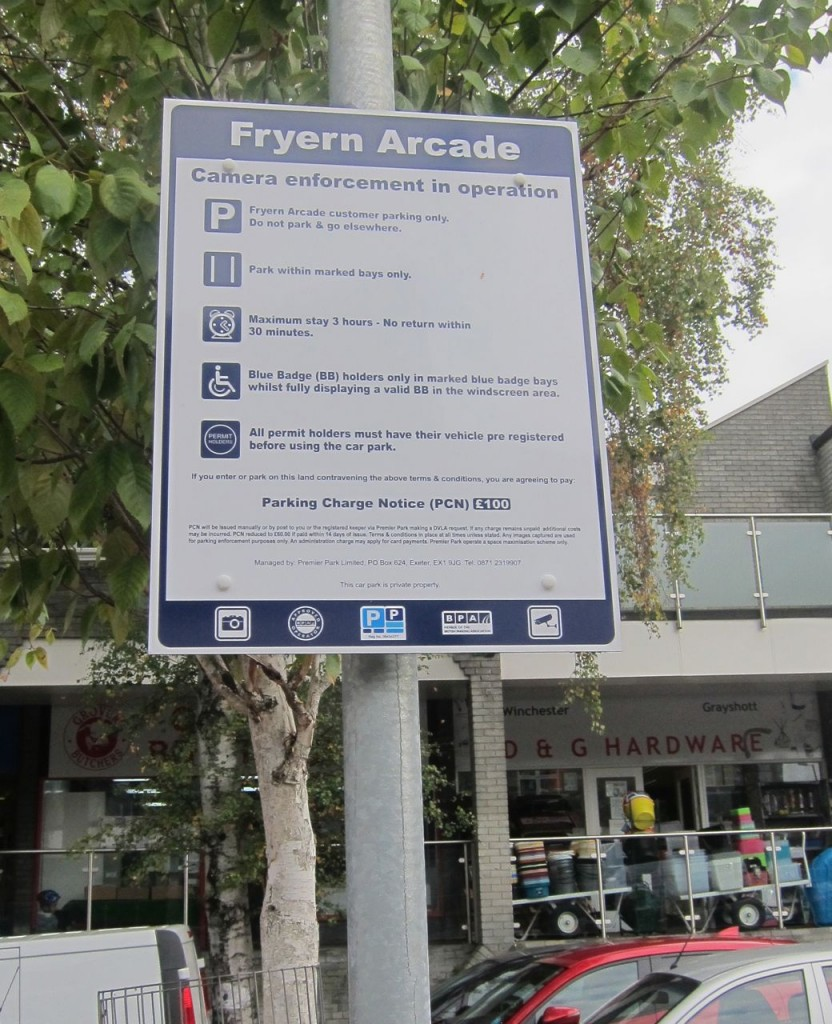 Fryern Arcade Private Land parking