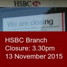 Closure of HSBC Chandler's Ford Branch. Do Bank Branches Still Matter?