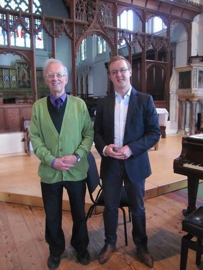 Dr. Hugh Benham (left) and Michael Higgins.