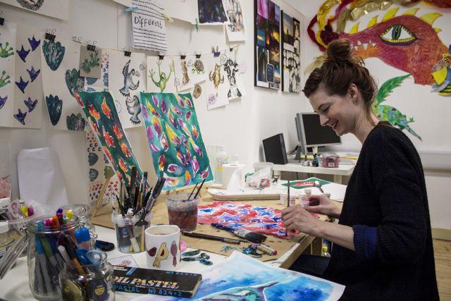 Eastleigh artist Lisa Jean Gardner. Photo credit: Harry Usborne.