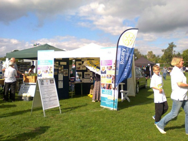 Rotary Club Stand