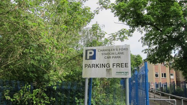 Chandler's Ford train station car park is free
