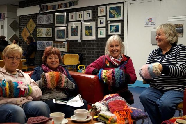 Twiddlemuffs makers from Eastleigh: (from left) Sheila, Cherryl, Lorna, and Marylou.